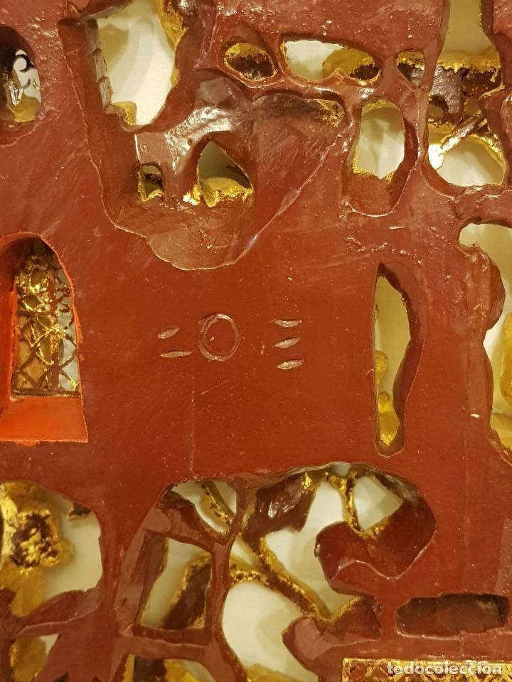 Arte: Panel chino de madera dorada. Siglo XX - Foto 14 - 118108515