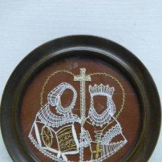 Arte: VAMBERECKA KRAJKA VAMBERK (ENCAJE BOLILLOS DE CHECOSLOVAQUIA) ENMARCADO CON SU CERTIFICADO. Lote 119088643