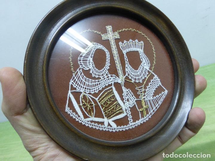 Arte: vamberecka krajka vamberk (encaje bolillos de checoslovaquia) enmarcado con su certificado - Foto 4 - 119088643
