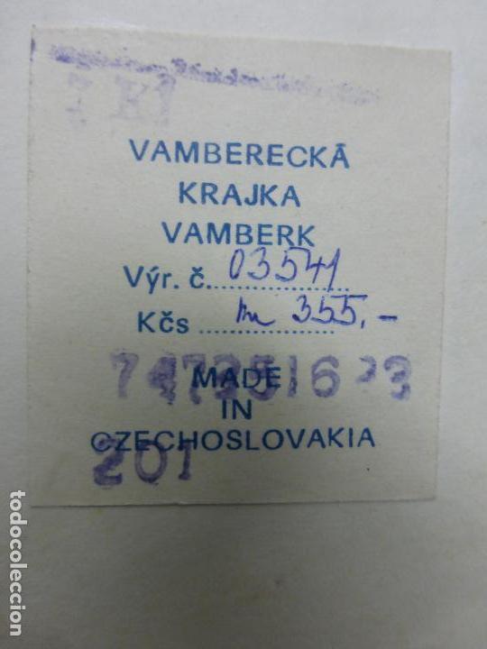 Arte: vamberecka krajka vamberk (encaje bolillos de checoslovaquia) enmarcado con su certificado - Foto 5 - 119088643
