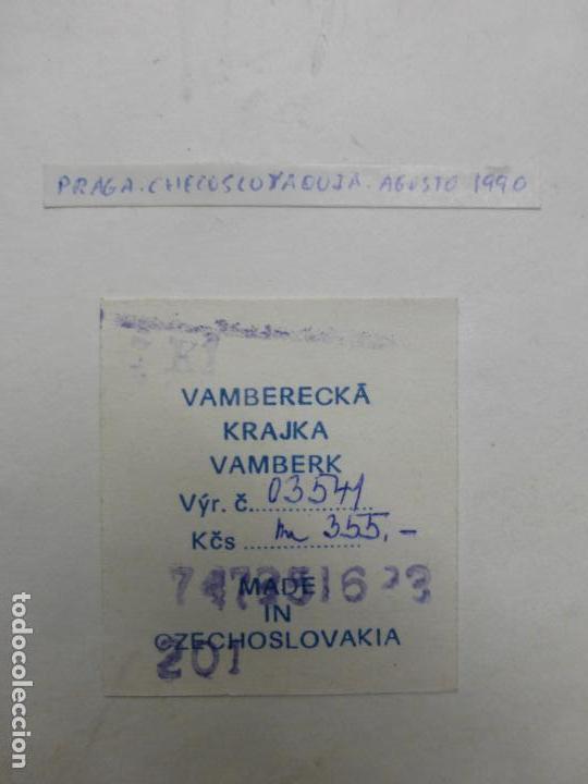 Arte: vamberecka krajka vamberk (encaje bolillos de checoslovaquia) enmarcado con su certificado - Foto 6 - 119088643