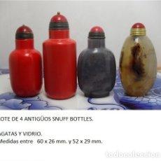 Arte: LOTE DE 4 SNUFF BOTLLE. Lote 120261591
