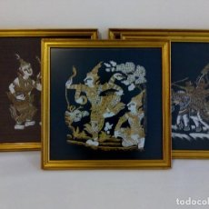Arte: SEDA PINTADA A MANO DE INDIA. 33 CM.. Lote 122011563