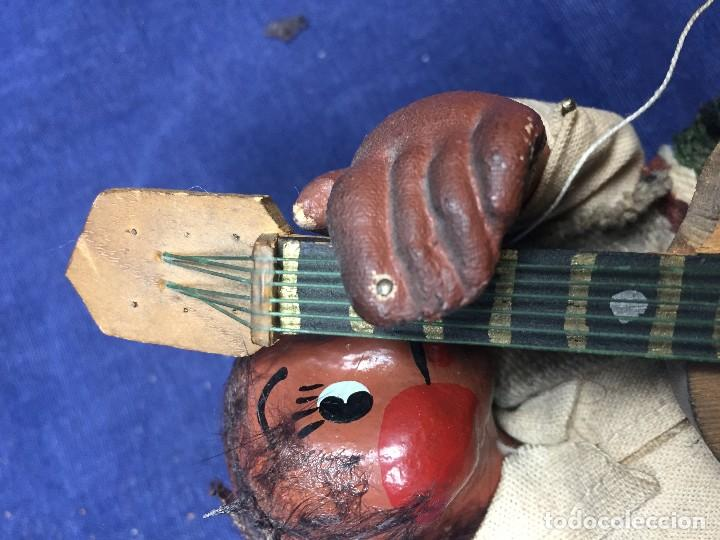 Arte: muñeco mejicano mariachi guitarrista barro tela madera guitarra 1a mitad s xx 25x11cms - Foto 10 - 122103827
