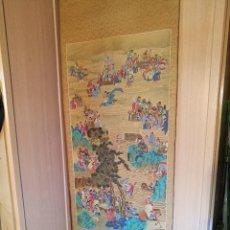 Arte: KAKEMONO TATEJIKU KAKEJIKU SCROLL PINTURA SOBRE SEDA FIRMADA..JAPON SIGLO XIX, SAMURAI FUDO. Lote 122752023