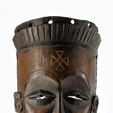 Arte: ARTE AFRICANO; MÁSCARA TCHOKWE ORIGINARIA DE CONGO. Lote 126178595