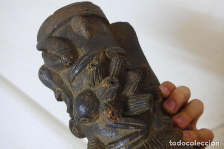 Arte: Antigua gran pipa escultura de terracota original de tribu de camerun, africana, Africa. - Foto 7 - 126194727