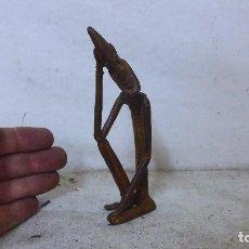 Arte: ANTIGUA ESCULTURA DE BRONCE AFRICANO, ORIGINAL, DE TRIBU DOGON DE MALI, AFRICANA. AFRICA.. Lote 126196747