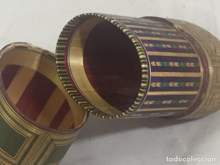 Kunst: Estuche caja rígido fibra natural tejida motivos geométricos Filipinas principios siglo XX faltas - Foto 10 - 127317003