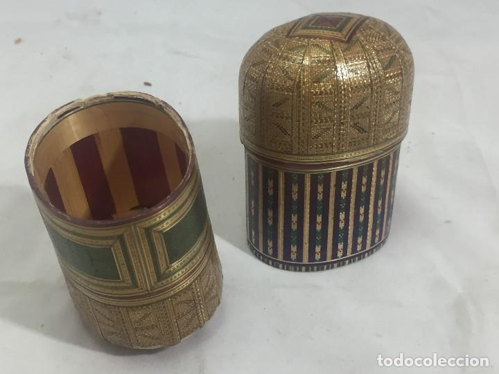 Kunst: Estuche caja rígido fibra natural tejida motivos geométricos Filipinas principios siglo XX faltas - Foto 11 - 127317003