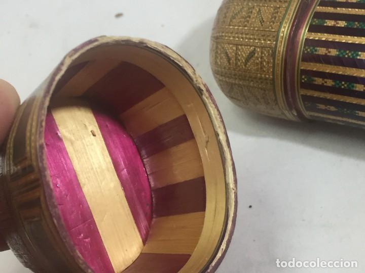 Kunst: Estuche caja rígido fibra natural tejida motivos geométricos Filipinas principios siglo XX faltas - Foto 13 - 127317003