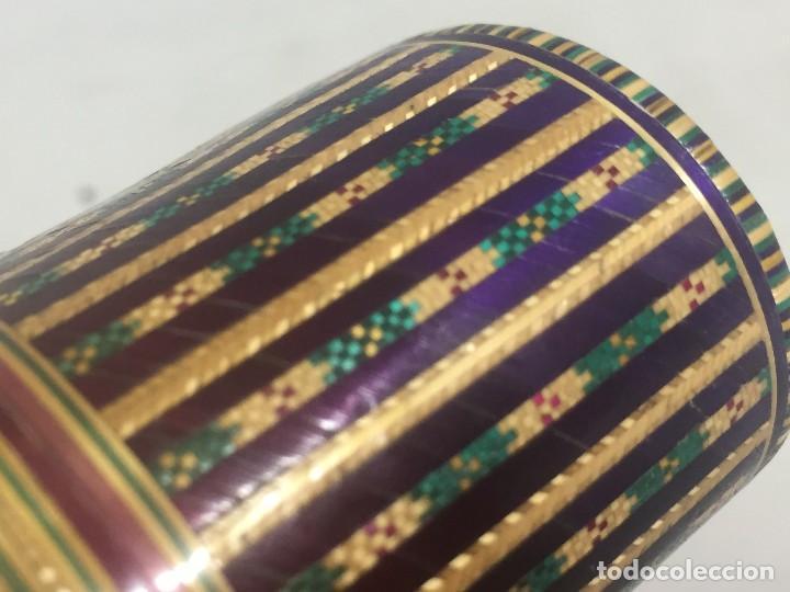 Kunst: Estuche caja rígido fibra natural tejida motivos geométricos Filipinas principios siglo XX faltas - Foto 16 - 127317003
