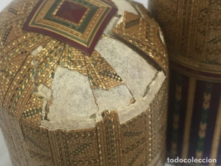 Kunst: Estuche caja rígido fibra natural tejida motivos geométricos Filipinas principios siglo XX faltas - Foto 18 - 127317003