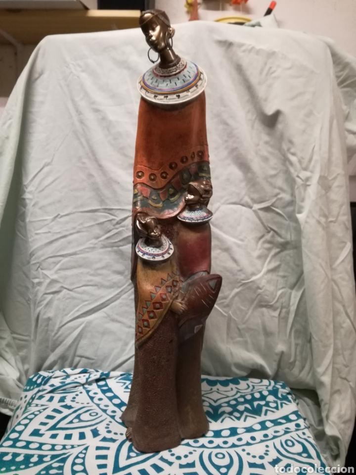 Arte: Figura africana. Madre e hijas masai - Foto 2 - 127324686