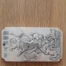 Arte: ESPECTACULAR LINGOTE DE PLATA TIBETANA. Lote 127819831