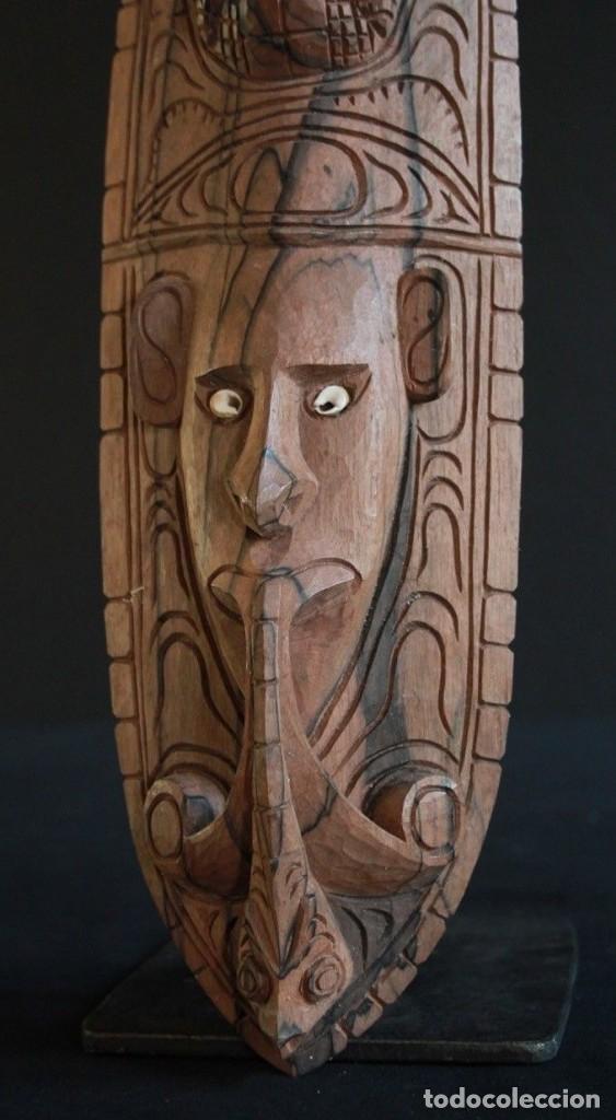 Arte: Mascara de madera noble Procedente de la zona del lago Edel, en Papua Nueva Guinea. - Foto 4 - 127919151