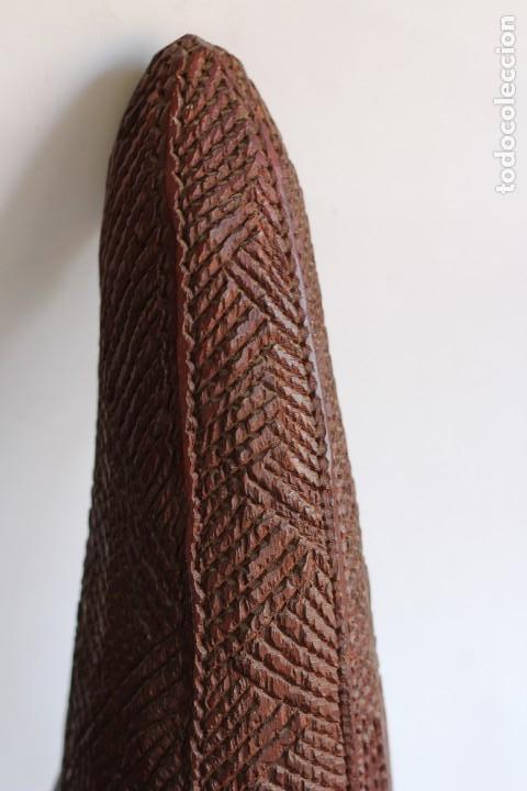 Arte: TALLA AFRICANA EN MADERA NOBLE DE AFRICA ROSTRO DE MUJER 50 cm de altura - Foto 7 - 128259411