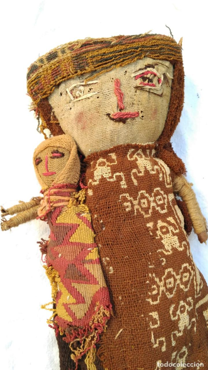 Kunst: Muñeca Artesanal Peru Chancay siglo XX con textiles probablemente antiguos BPY - Foto 2 - 128783087