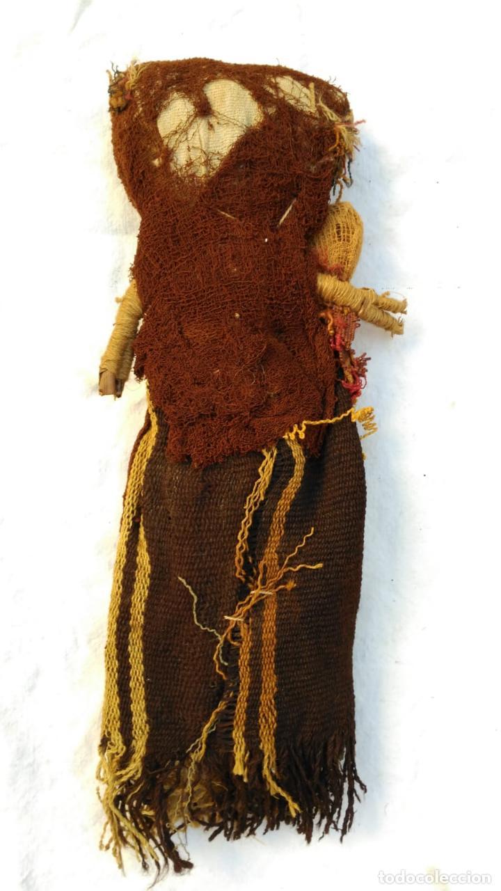 Kunst: Muñeca Artesanal Peru Chancay siglo XX con textiles probablemente antiguos BPY - Foto 3 - 128783087