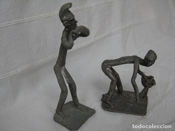 Arte: FIGURAS DE AGRICULTORES AFRICANOS EN CALAMINA DECORADA - Foto 4 - 128997939