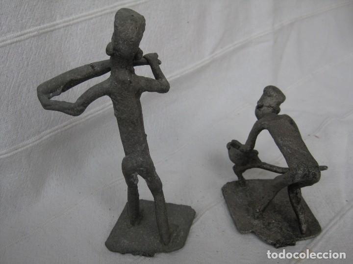 Arte: FIGURAS DE AGRICULTORES AFRICANOS EN CALAMINA DECORADA - Foto 5 - 128997939