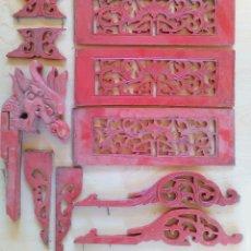 Kunst - 10 ANTIGUAS Y CURIOSAS TALLAS ORIENTALES EN MADERA. - 129244348