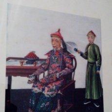 Arte: PRECIOSA Y ANTIGUA LITOGRAFIA DE ARTE CHINO LAMINA VI PALACIO REAL DE ARANJUEZ ESPAÑA ENMARCADA. Lote 130085354