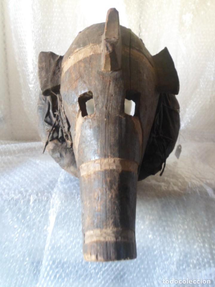 Arte: ARTE ÉTNICO AFRICANO. MASCARA. ETNIA BAMBARA. MALÍ. ÁFRICA. - Foto 2 - 130626990