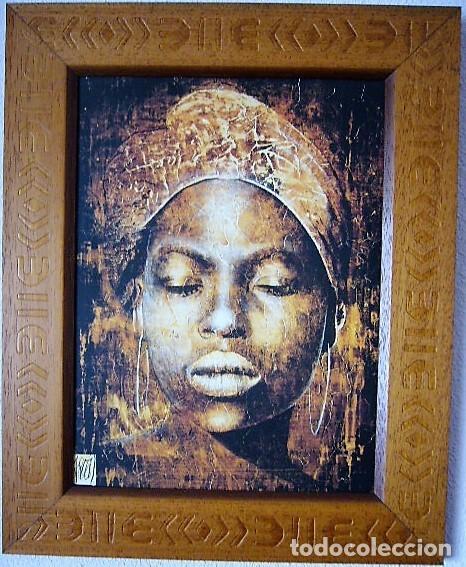 impresión sobre tabla enmarcada africana - Comprar Arte Étnico ...