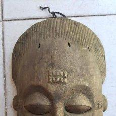 Arte: ANTIGUA Y RARA MÁSCARA RITUAL DE MADERA - ARTE ÉTNICO AFRICANO.. Lote 130925884