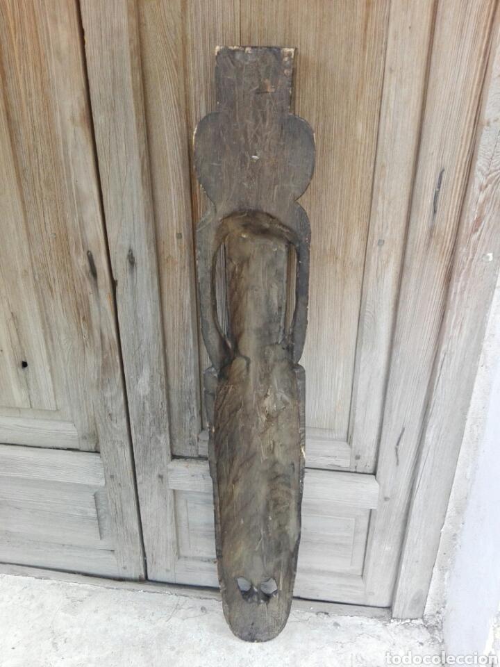 Arte: Gran mascara africana de madera tallada Africa 98 cm de altura - Foto 4 - 142751533