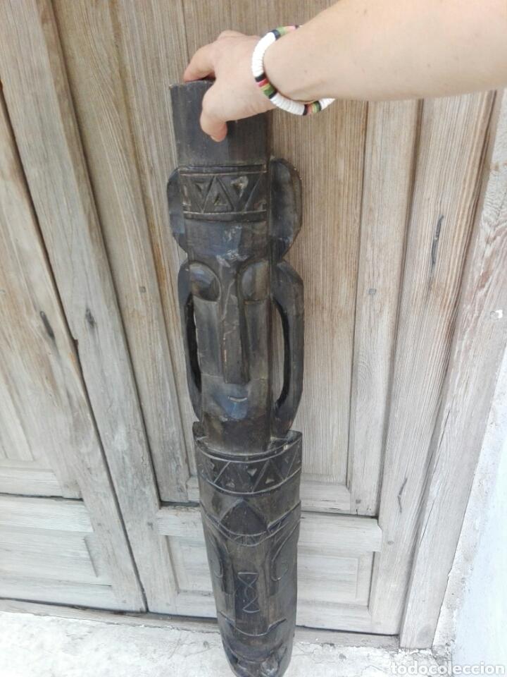 Arte: Gran mascara africana de madera tallada Africa 98 cm de altura - Foto 6 - 142751533