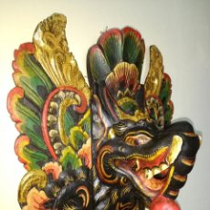 Arte: ESPECTACULAR MÁSCARA BALINESA INDONESIA NOK HASADEE DE MADERA TALLADA Y POLICROMADA.AÑOS '80. Lote 131847046