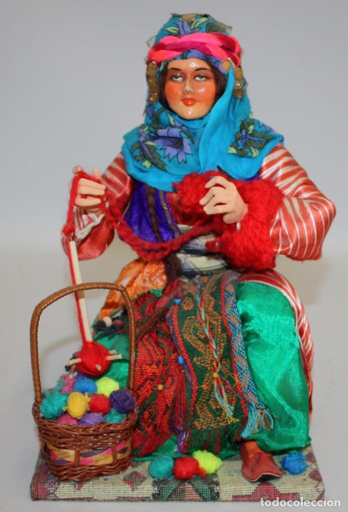 VENDEDORA DE LANAS TURCA (PRECIOSA). (Arte - Étnico - Europa)