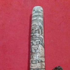 Arte: ANTIGUA DAGA CHINA CON MANGO EN HUESO PRINCIPIOS S. XX. Lote 154970366