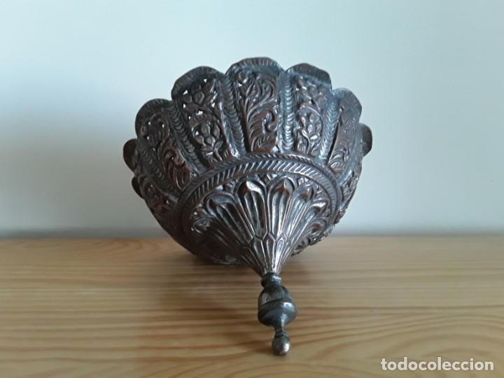 Arte: Tapa perfumador cobre, India - Foto 5 - 132478098
