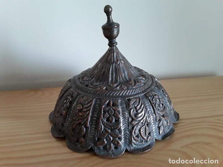 Arte: Tapa perfumador cobre, India - Foto 8 - 132478098