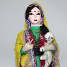 Arte: PASTORA DE LADAKH (INDIA) TRIBUS TIBETANAS DE GADDAN.. Lote 132799174