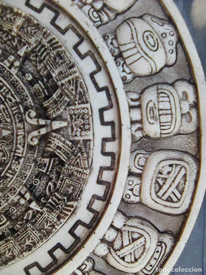 Arte: Calendario maya - Recreación en yesería policroma - 33,50 cms diametro - Foto 2 - 133309622