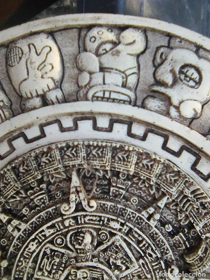 Arte: Calendario maya - Recreación en yesería policroma - 33,50 cms diametro - Foto 3 - 133309622