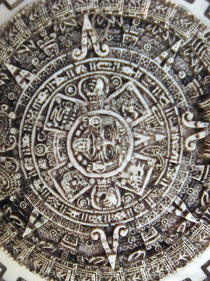 Arte: Calendario maya - Recreación en yesería policroma - 33,50 cms diametro - Foto 4 - 133309622