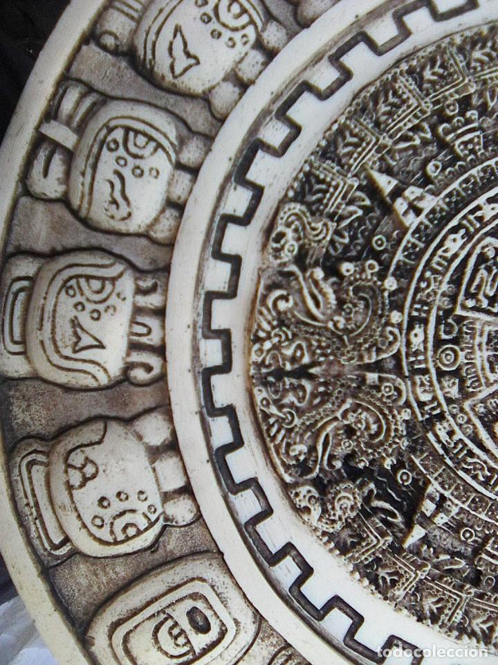 Arte: Calendario maya - Recreación en yesería policroma - 33,50 cms diametro - Foto 6 - 133309622
