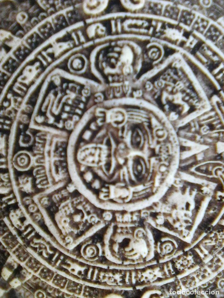 Arte: Calendario maya - Recreación en yesería policroma - 33,50 cms diametro - Foto 7 - 133309622