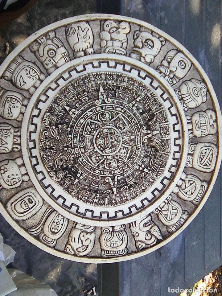Arte: Calendario maya - Recreación en yesería policroma - 33,50 cms diametro - Foto 8 - 133309622