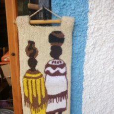 Arte: BONITO TAPIZ HECHO DE LANA ,AFRICA.FIBRAS NATURALES.. Lote 133343486