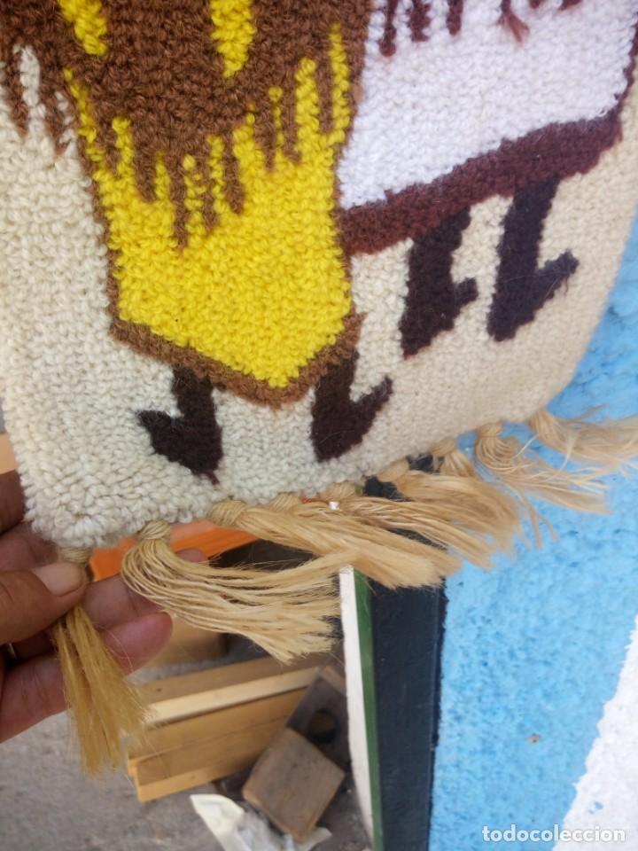 Arte: Bonito tapiz hecho de lana ,africa.fibras naturales. - Foto 3 - 133343486