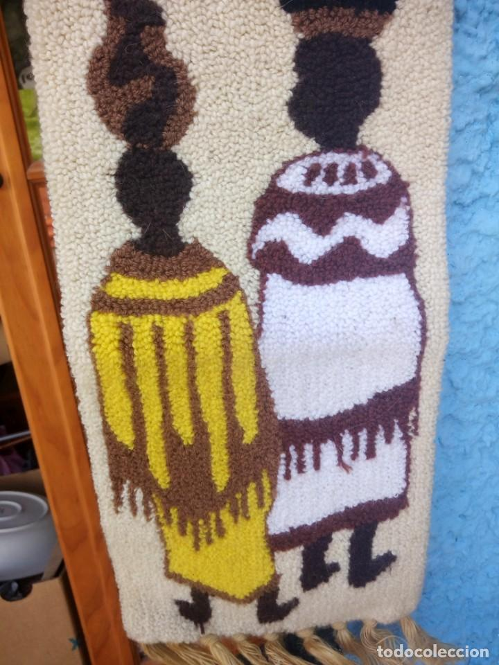 Arte: Bonito tapiz hecho de lana ,africa.fibras naturales. - Foto 4 - 133343486