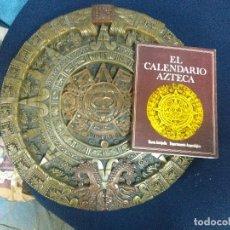 Arte: PIEDRA DEL SOL GRANDE Y PESADA LIBRO CALENDARIO AZTECA. Lote 133343698