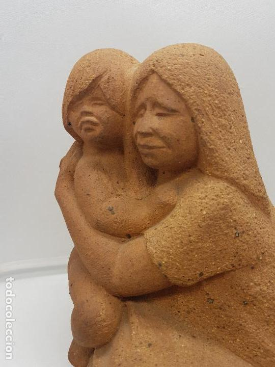 Arte: Maravillosa gran escultura antigua hecha en Perú MATERNIDAD - Foto 2 - 133462898