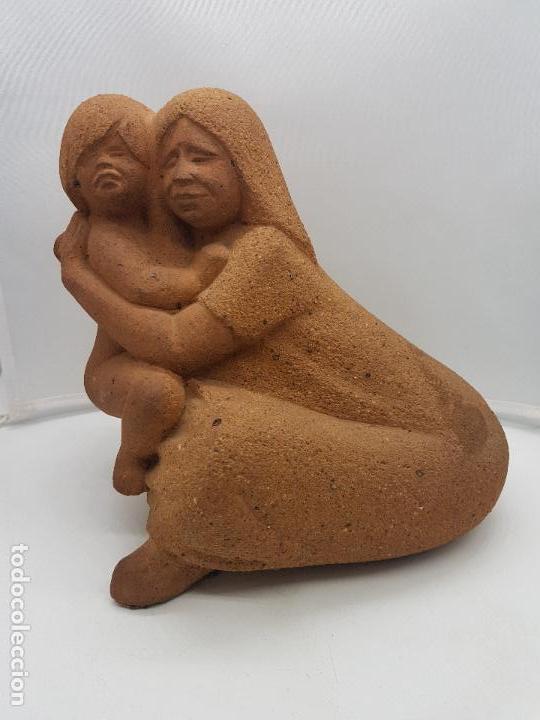 Arte: Maravillosa gran escultura antigua hecha en Perú MATERNIDAD - Foto 3 - 133462898